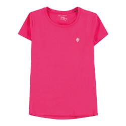 Smart pink t-shirt med rund hals fra Marc O Polo