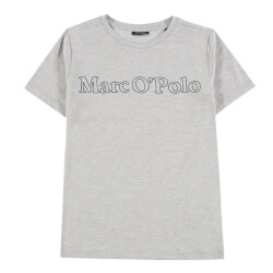Smart grå t-shirt med logoprint fra Marc O Polo