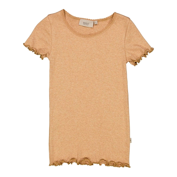 Wheat - Rib T-shirt Sand Melange