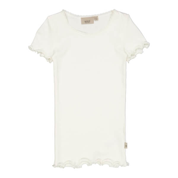 Wheat - Rib T-shirt Ivory
