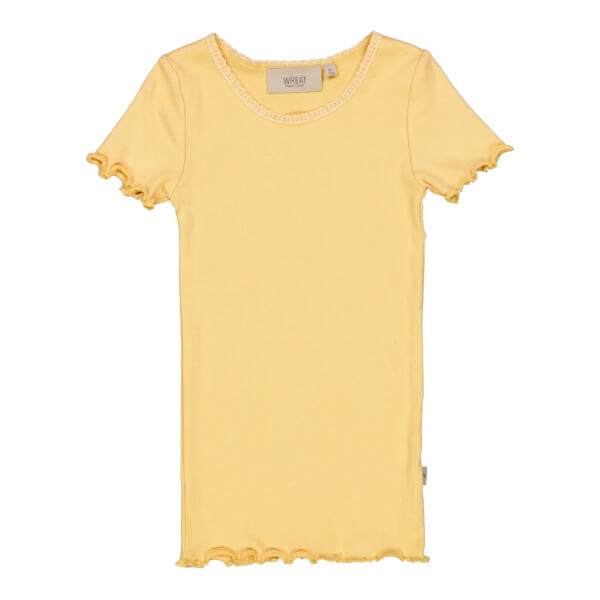 Wheat - Rib T-shirt Sahara Sun