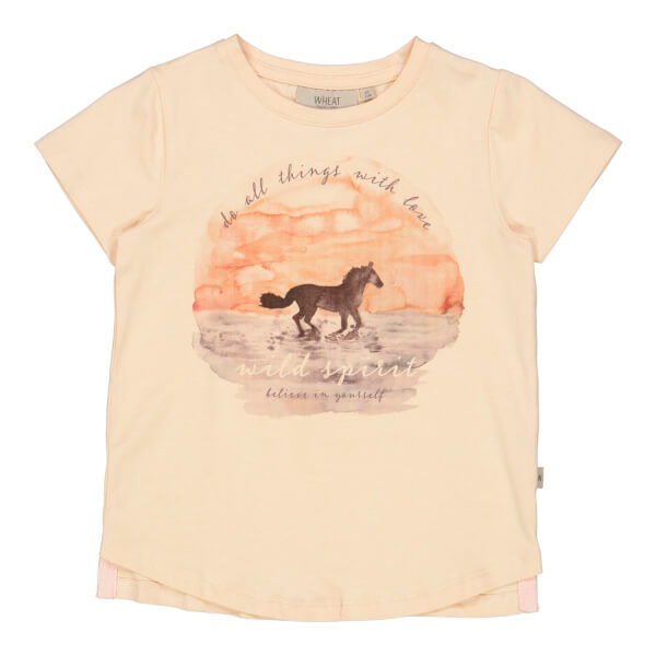 Wheat - T-shirt Sunset Horse Alabaster