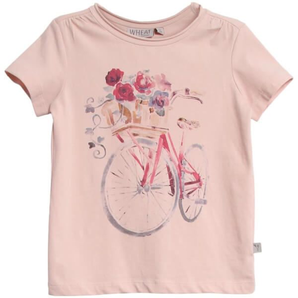 Wheat - Rosafarvet T-shirt Flower