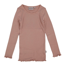 Wheat - Rib Bluse Rose Powder
