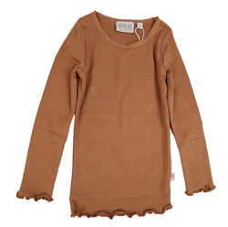 Wheat - Rib T-Shirt Lace Caramel