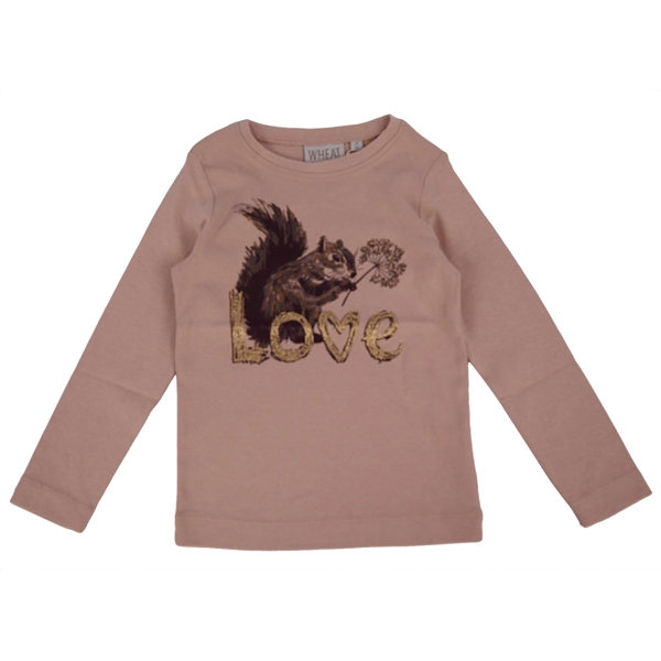 Wheat - T-Shirt Squirrel Rose Powder