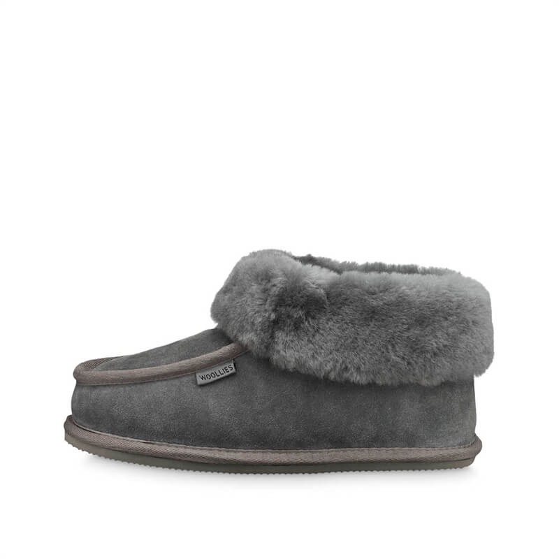 Woollies Eva Outsole Hjemmesko Grey