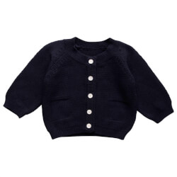 Skøn navy cardigan fra Müsli by Green Cotton