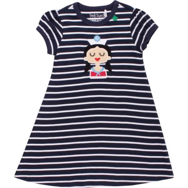 Freds World - Sailor Stripe Baby Kjole Navy