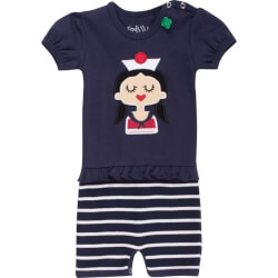 Sailor stripe beach girl i navy blå 1583005100-navy