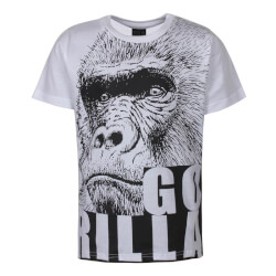 Kids Up - Klein T-shirt Gorilla Hvid