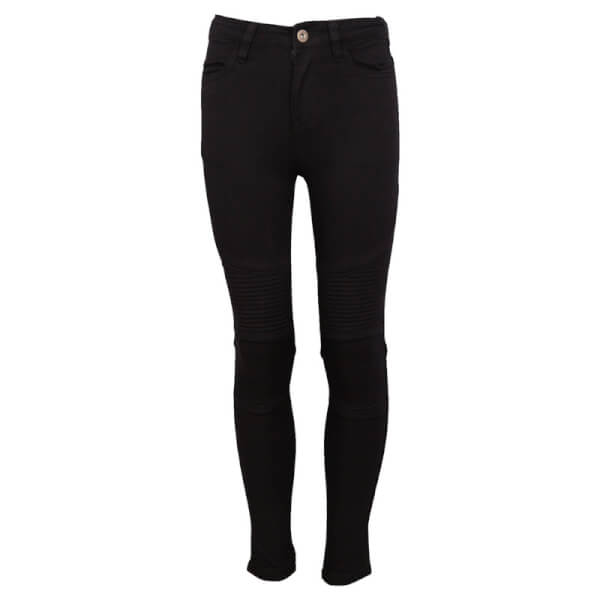 Sorte jeggings i biker look fra Grunt