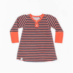 Caris baby kjole i Dark Denim striped fra Alba Baby 1897-darkdenim set forfra