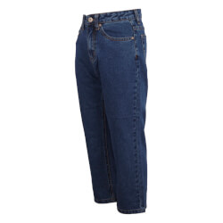 Grunt Pige - Mom Straight Leg Croped Blue Jeans
