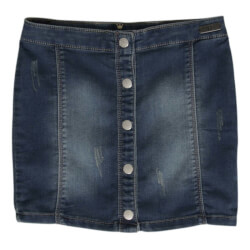 Super fine denim nederdel med knapper fra Hust and Claire