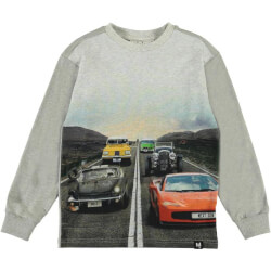 Molo - Risci Langærmet T-shirt Car Family