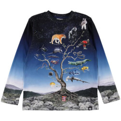 Molo - Reif Langærmet T-shirt Animal Tree