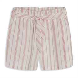 Fine Heidi paper bag shorts med striber fra Grunt - 2023-102-RED-STRIPED