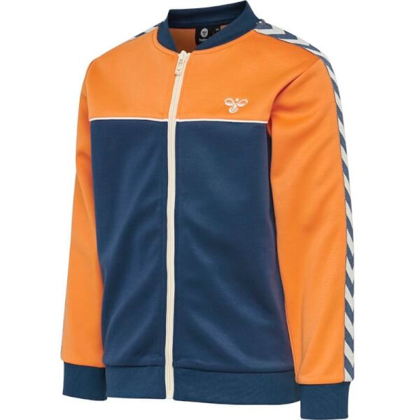 Cool cardigan i navy og orange med logo fra Hummel