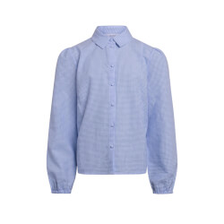Grunt Pige - Ora Check Skjorte Light Blue