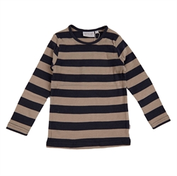 Wheat - T-Shirt Striped Midnight Blue