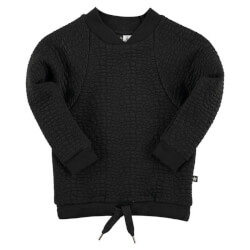 Super fed neopren sweatshirt fra Molo i sort