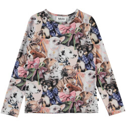 Molo - Rose Puppy Love Bluse