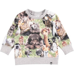 Elmo t-shirt/bluse fra molo med hairy animals 3S18A410-4684