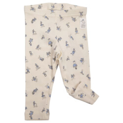 "Fantastisk søde leggings i råhvid med små ""Anders And""-motiver fra Wheat - Disney Leggings Anders And, 4852-812-3182-IVORY"