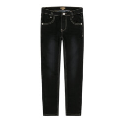 Sorte jeans i slim fit model med vask fra Hut & Claire