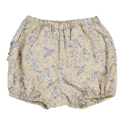 Wheat - Nappy Shorts Ruffles Moonlight Flowers
