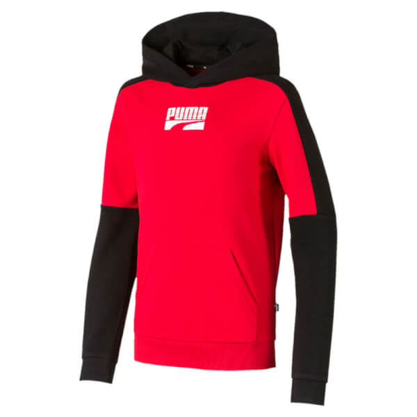 Image of   Puma - Rebel Block Hoodie Red