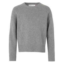 Rosemunde - Striktrøje Light Grey Melange