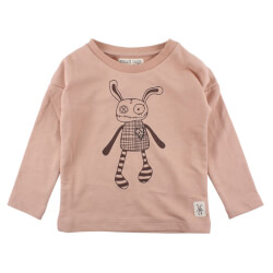 Smart lille sweatshirt i sart rosa fra Small Rags