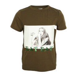 Hound Pige - Picture Print T-shirt Army