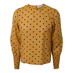 Hound Pige - Dotted Bluse Dusty Yellow