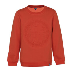 Blød sweatshirt i orange materiale med 3D-print fra Kids-Up