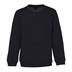 Blød sweatshirt i sort materiale med 3D-print fra Kids-Up