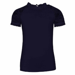 Sød navy t-shirt med blonder fra Kids Up - Katri 7207845-5800
