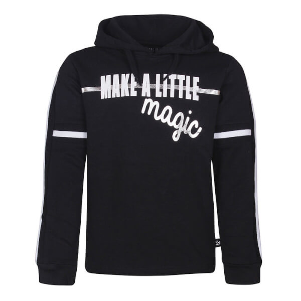 Smart sort sweatshirt med hætte og print fra Kids Up - Frey