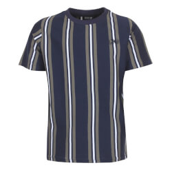 Kids Up Dreng - Navy Striber Bram T-shirt