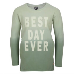 smart sweatshirt fra Kids Up i mint farveforløb