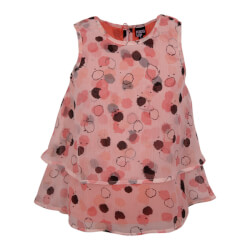fin rosa chiffon top fra Kids Up model Zoey