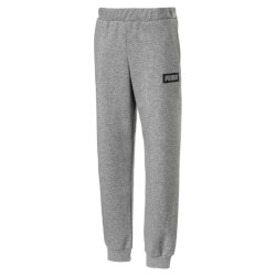 Grå sweatpants i blødt materiale med brede ribkanter fra Puma - Rebel Sweat Pants, 850206-003