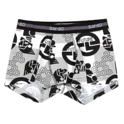Smarte sort/hvide Say So boxershorts