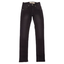 Narrow jeans i sort med slid fra Add to Bag 4160811-834 set forfra