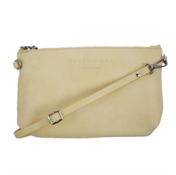 Rosemunde - Clutch Vegan Pastel Yellow Silver