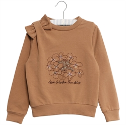 Wheat - Sweatshirt Embroidery Flower Caramel
