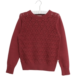 Wheat - Pullover Leise Burgundy
