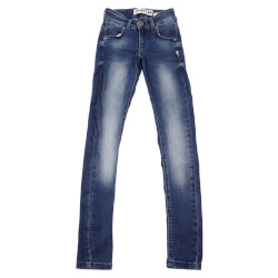 Nanna slim fit jeans fra Costbart i denim blå 13007-826 set forfra